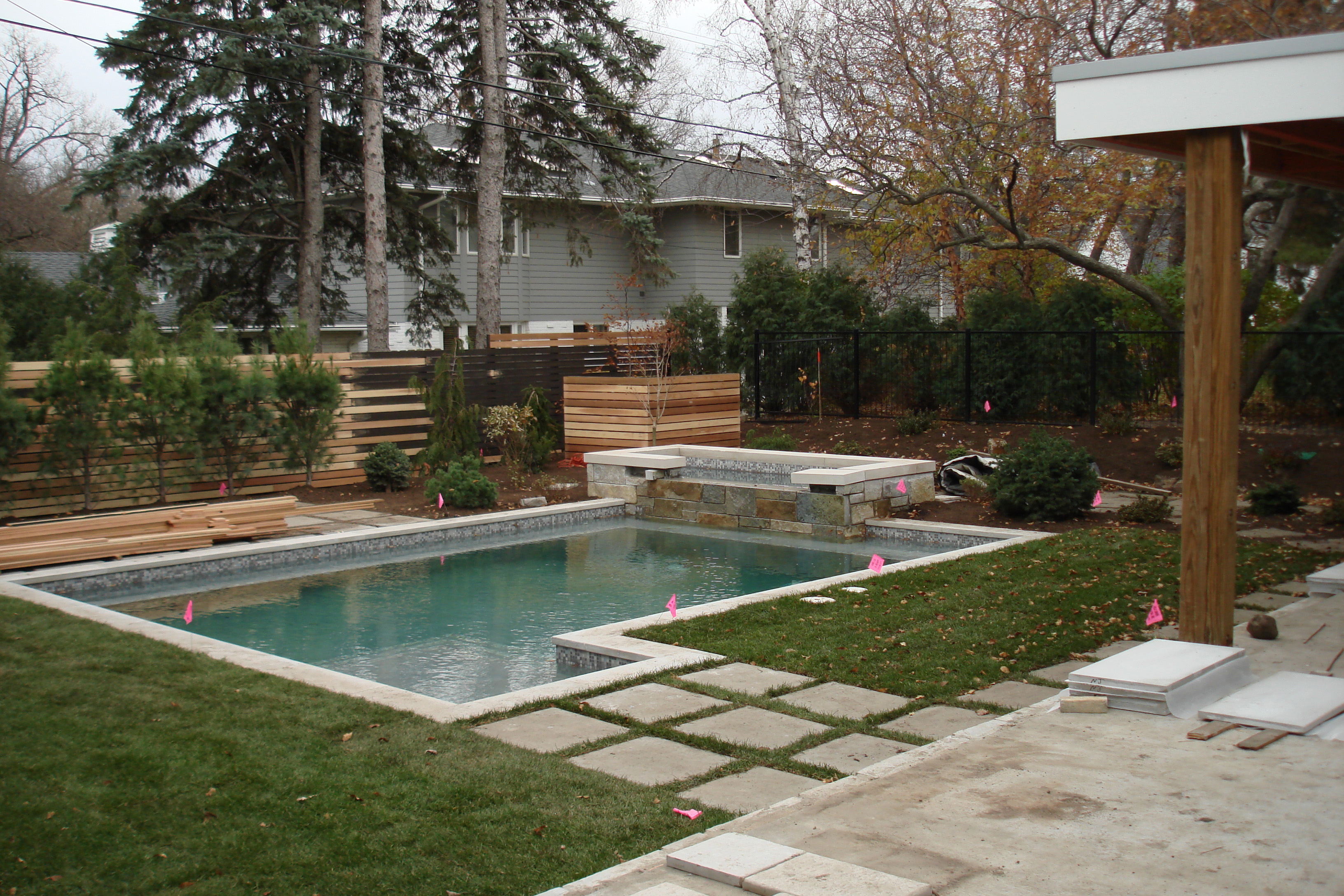 Modern garden for Outdoor garden pool